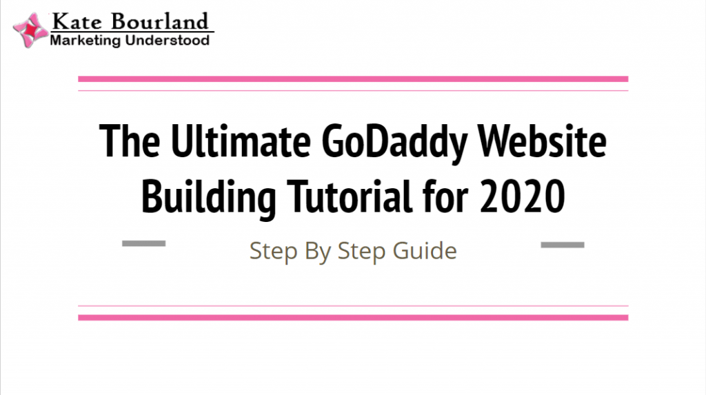The Ultimate GoDaddy Website Builder Tutorial for beginners